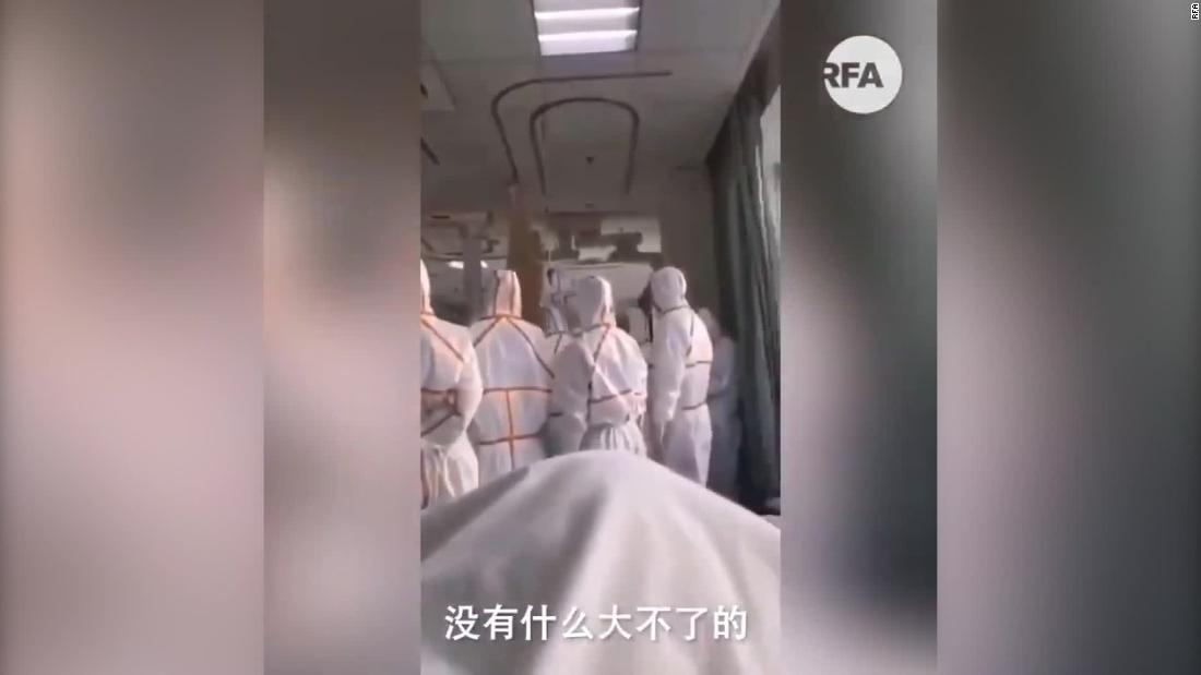 Social media video appears to show desperation of patients in Wuhan